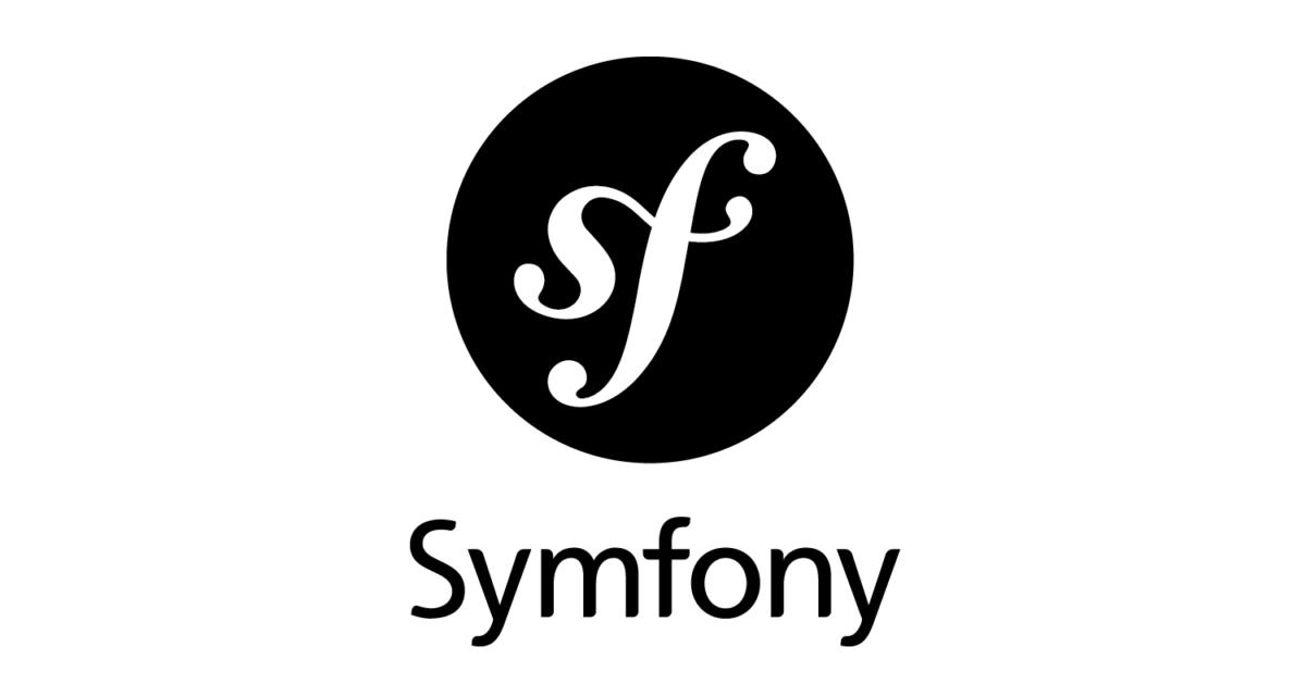 symfony logo black and white